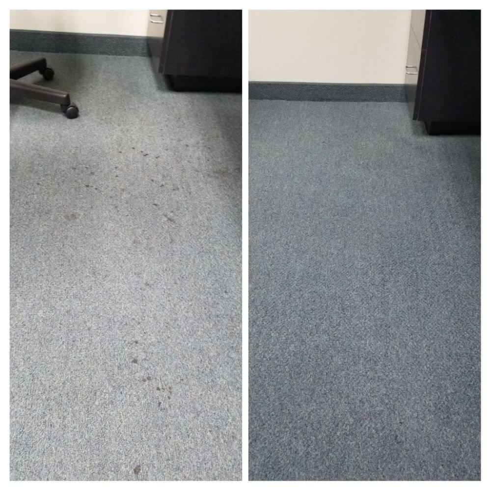 Before and after commercial cleaning in Long Beach, CA