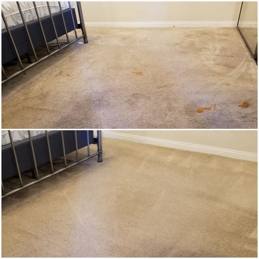 Before and after carpet cleaning in Signal Hill, CA