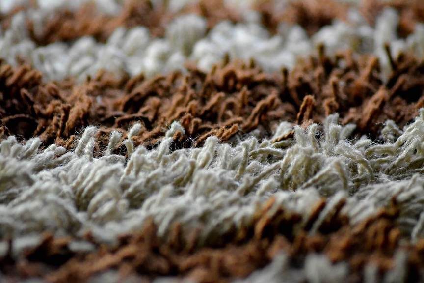 brown and white carpet