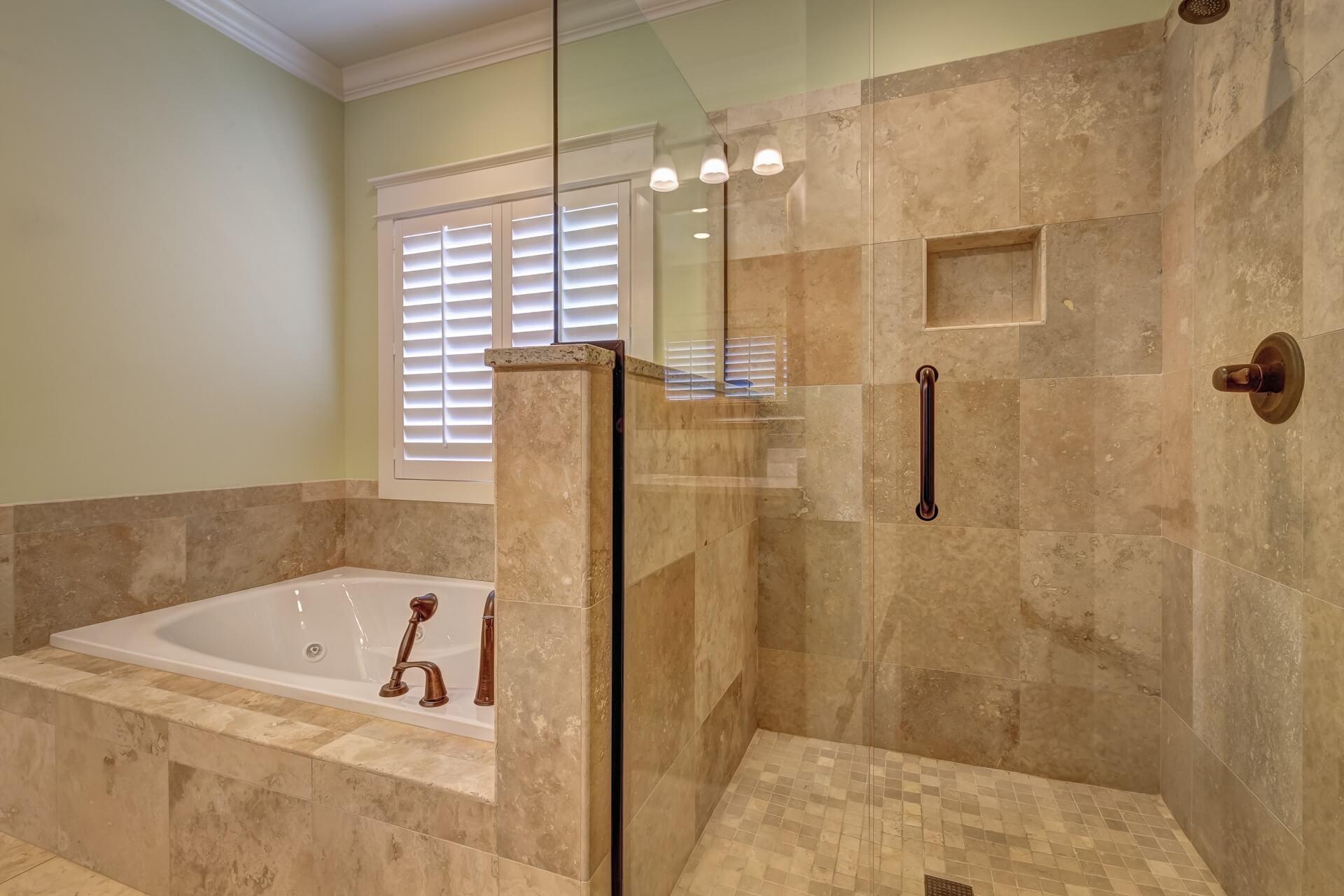 clean bathroom tile in lakewood home
