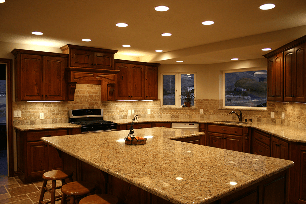 clean granite countertops in long beach kitchen