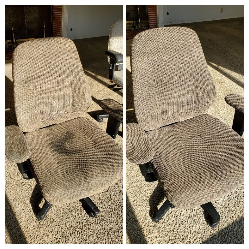 Before and after commercial upholstery cleaning in Signal Hill, CA