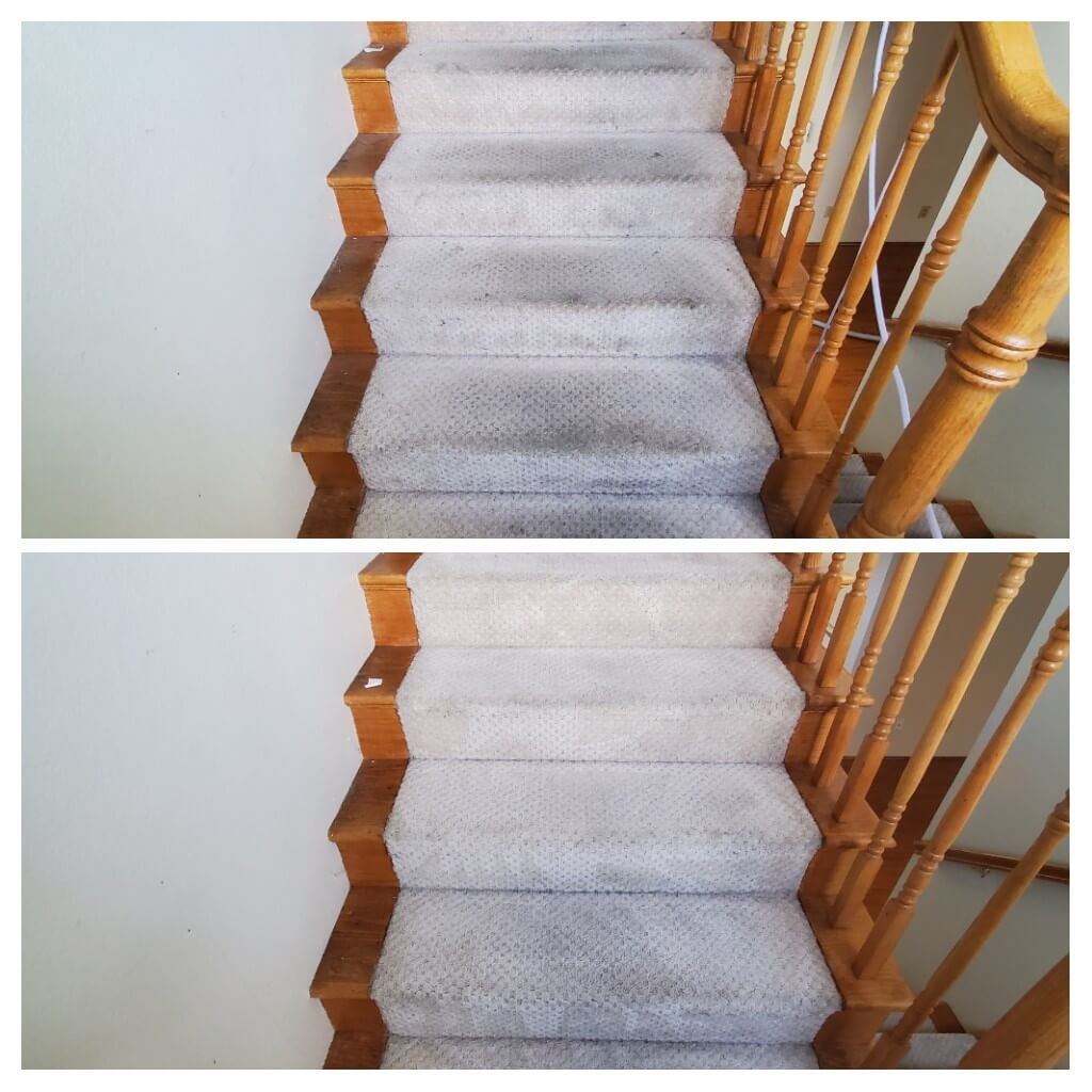 Before and after stain removal in Long Beach, CA