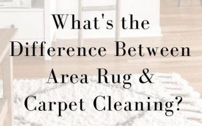 What's the Difference Between Area Rug and Carpet Cleaning?